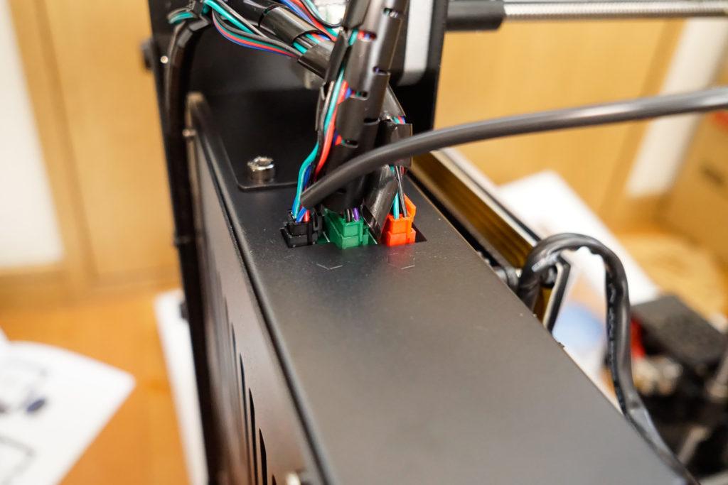 3Dプリンター Anycubic i3 Mega 組み立て ケーブル接続