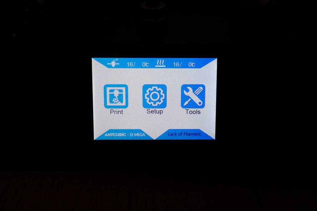 3Dプリンター Anycubic i3 Mega タッチスクリーン ホーム